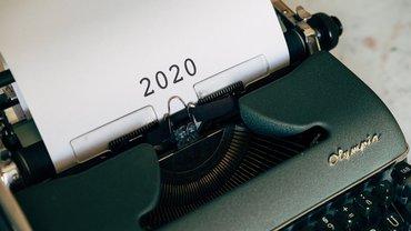 Jahresrückblick 2020 Schreibmaschine